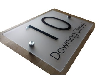 FROSTED House sign acrylic perspex personalised custom number name business