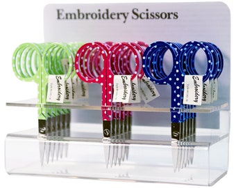 """Embroidery Scissors - 3 1/2"""" - Makes a Great Gift!  Sharp Shears, Choose the color! Polka Dot Scissors"""