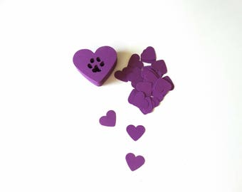 Paw Print Heart Confetti, Dog Confetti, Dog Birthday Party, Blues Clues Party, Baby Shower Decor, Dog Theme Wedding, Pet Party