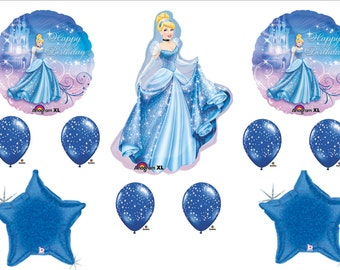 CINDERELLA Birthday Party balloons Decorations Supplies Disney Stars Princess