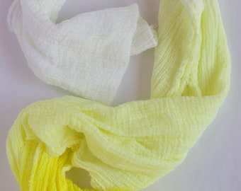 Yellow ombre table runner, ombre yellow tapestry, eco friendly + hand dyed, created with pure joy, wedding decor, party decor