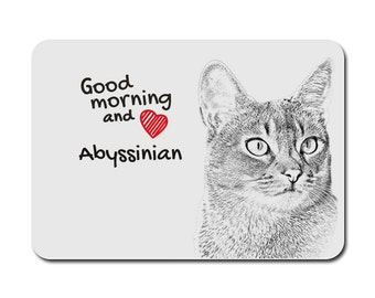 Abyssinian cat, A mouse pad with the image of a cat. Collection!
