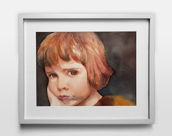 Custom Watercolor Portrait Painting- Great for Gifts