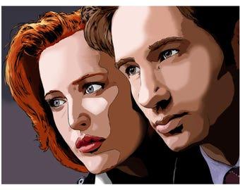 X-Files Digital Painting Art Print