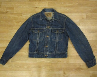 Vintage Copper King 1960's denim jacket trucker jacket Lee jeans union Sanforized small