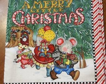 A Merry Little Christmas by Mary Engelbreit Children's Fabric Book