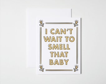 Funny New Baby Card- Baby Smell