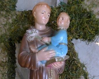 Chalkware St. Anthony statue
