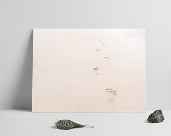 Footprints, Printable files, Beach print, Footprints Print, Beach photo, Wall art, Minimal photography, Minimal Wall Art, Modern Wall Decor