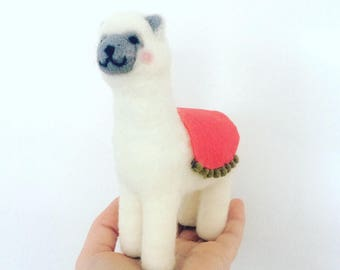 Llama Needle Felted Handmade made to order