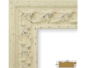 Craig Frames, 20x20 Inch Antique White Picture Frame, Swedish Country, 2.125-Inch Wide (5272042020)