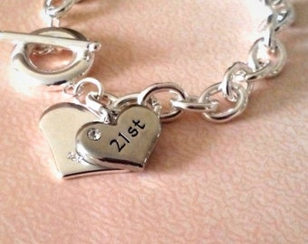 21st birthday, 21st birthday gift, gift for her, personalised birthday, jewelry, jewellery, birthday gift ideas, gift for her