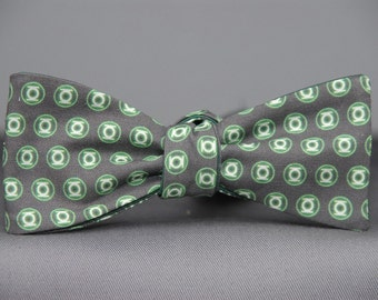 Green Lantern on Charcoal  Bow tie