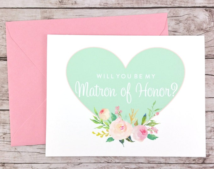 Will You Be My Matron of Honor Card (FPS0008)