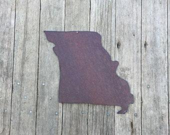state of Missouri, Missouri wall hanging, rustic Missouri decor, tin Missouri decor, Missiouri decor, missouri