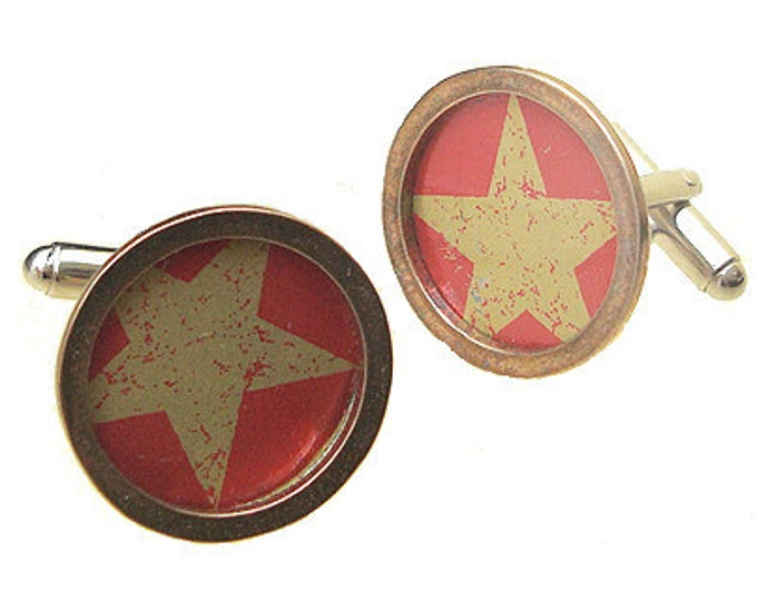 STAR HILL CAPS / Sterling Silver and brass cuff links
