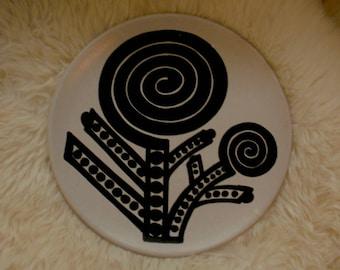 RAYMOR Italian Pottery Dish Mid Century Graphic Design