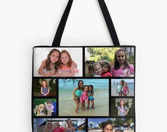 Sample personalized photo tote bag gift custom photo tote bag gift, Mother's Day Father's Day grandparents birthday graduation holiday gift