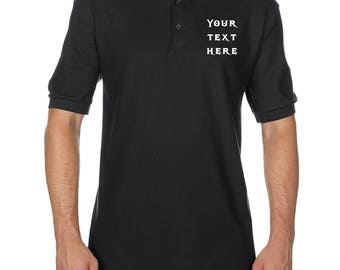Men's Custom Embroidered Polo Shirt, Customized Family Reunion Polo Shirt,  Business Embroidered Shirt,