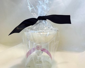 Lavender Martini Glass Candle