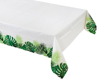 Tropical Fiesta Table Cover, Birthday Party, Summer Party, BBQ, Baby Shower, Wedding Decorations, Christening, Hen Party, Bachelorette