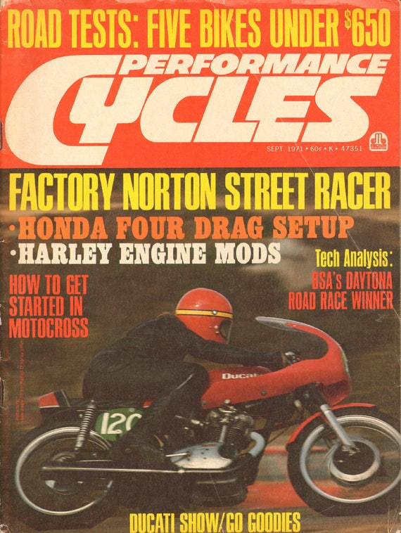 1971 September Performance Cycles Motorcycle Magazine Back-Issue #mb838