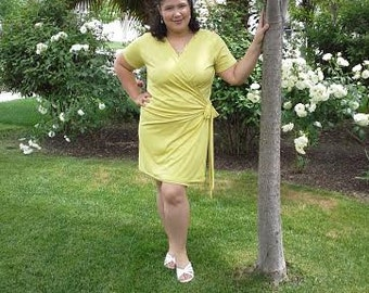 wrap dress pattern pdf, wrap dress pattern for women, wrap dress pattern, wrap dress pdf, wrap dress women pattern, PDF sewing pattern