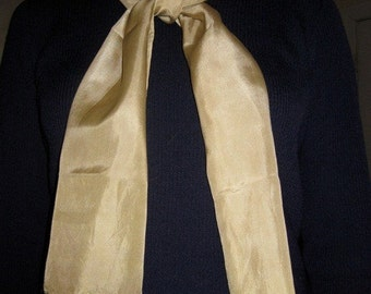 Silk Scarf - Naturally Dyed, Greenish Gold