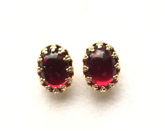 Ohrstecker,Earring Studs,ear studs,red,rot,Gold Edge Post,Bridesmaids Gift