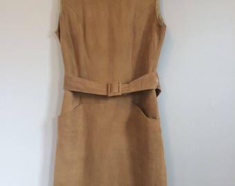 Vintage Suede Dress