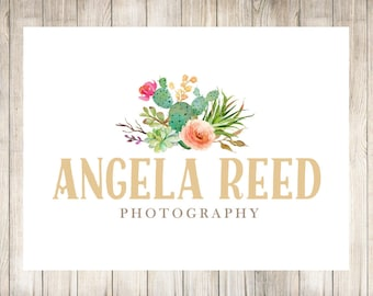 Floral Logo, Photography Logo, Photography Watermark, Logo Design, Photographer Logo, Premade Branding