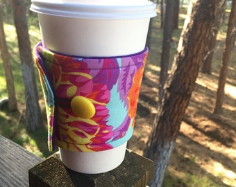Reusable Coffee Sleeve - Multi Color Floral