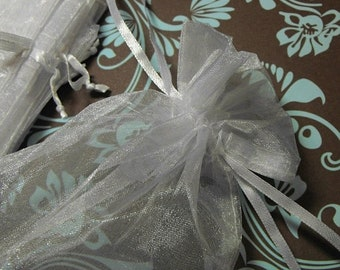 TAX SEASON Stock up 12 Pack Ivory Sheer Larger Size Organza Drawstring Bags 5 X 7 Inch Size