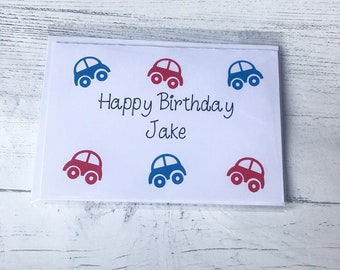 Boys car birthday card