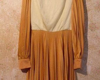 1960s Creamsicle Mod Dress