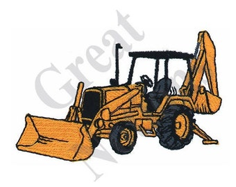 Backhoe - Machine Embroidery Design