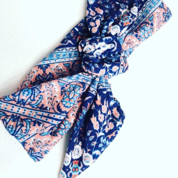 Spring Floral Cotton Jersey Headband
