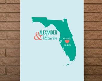 Wedding Guestbook, State Guestbook, Florida Guest Book, Wedding Guest Book, Florida Wedding Sign, Florida Wedding, Guest book