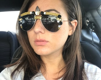 Unicorn aviator sunglasses