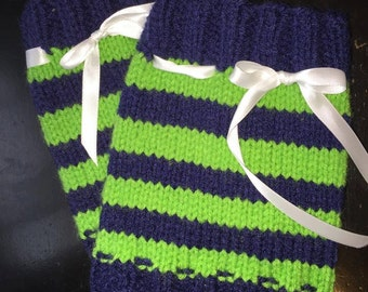 custom boot cuffs Seahawks custom colors