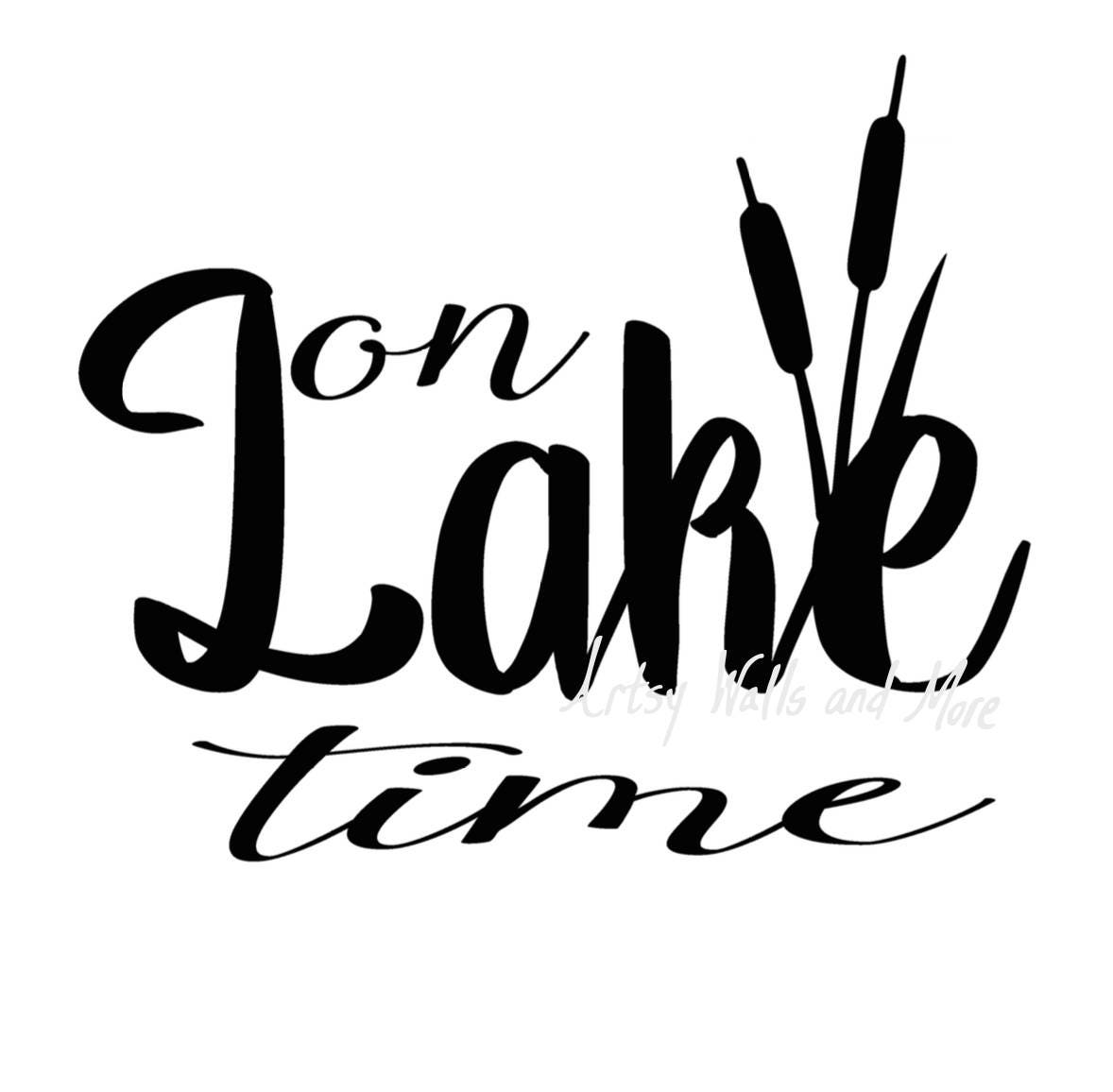 On lake time svg On lake time with cattails svg png jpg CUT