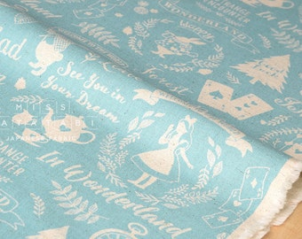 Japanese Fabric Kokka Wonderland - blue - 50cm