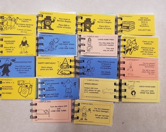 Lot of 18 Ohio State Universtiy (OSU) college themed Monopoly mini notebooks/tablets College Life