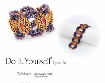 Step by step INSTANT download Pdf beading PATTERN Bracelet No. #31