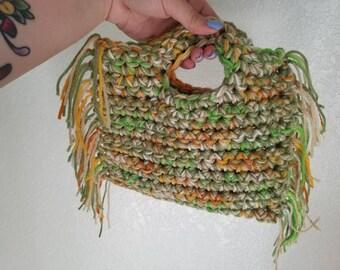 Multi Color Crochet Clutch