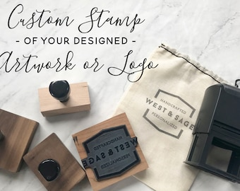 Custom Logo Stamp | Business Card Stamp | Logo Rubber Stamp | Custom Rubber Stamp | Custom Design Stamp | Wood Block | Business Branding