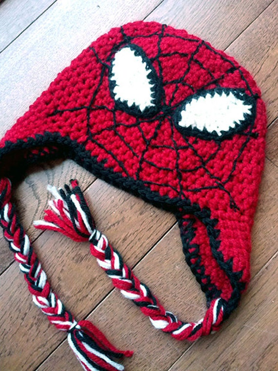 tricoter un bonnet spiderman