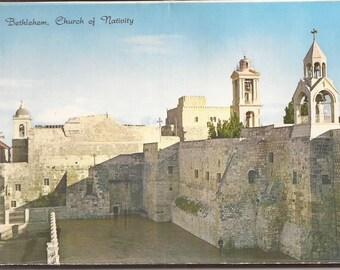 Bethlehem, Vintage Souvenir Postcard Booklet, Paper Ephemera, Israel, religious theme scenes, Christian Faith, Travel Souvenir