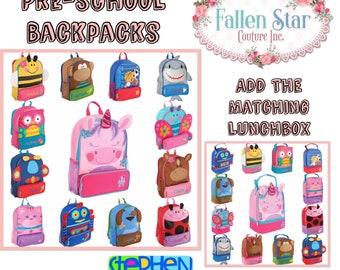 Toddler Backpack \\ Preschool Backpack \\ Personalized Toddler Backpack \\ Stephen Joseph Backpack \\ Preschool Backpack