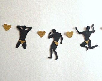 Bachelorette Party Garland, Male Stripper Garland, Bachelorette Party Supplies, Bachelorette Party Decoration